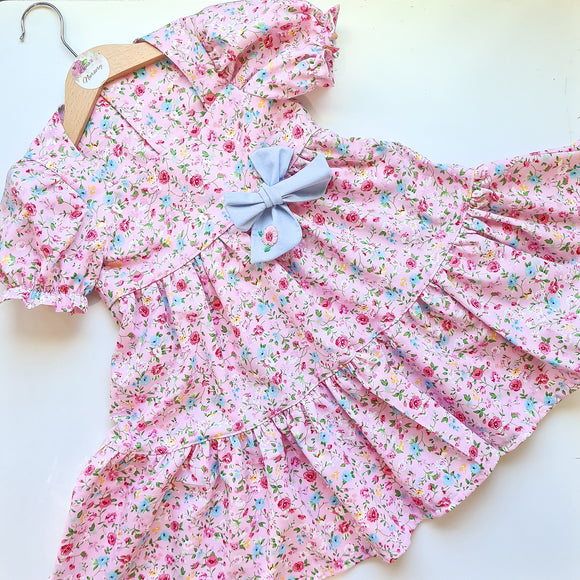 Eva Dress - Pink/blue floral