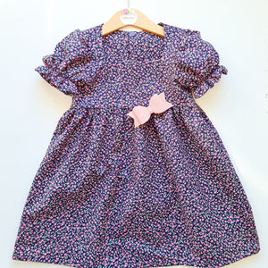 Betsy Dress - Navy floral