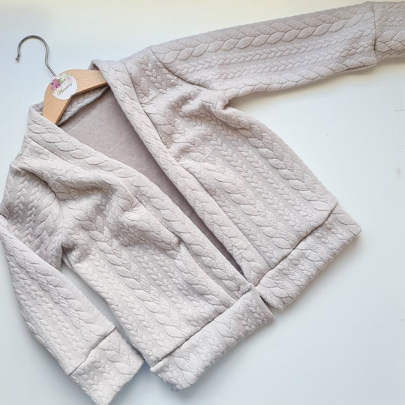 Cable knit Cardigan - Silver grey