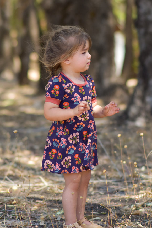 Galena dress - Navy floral