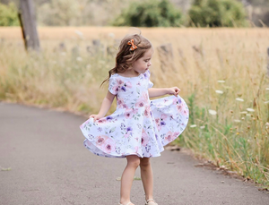Wattle dress - Eleanor Floral