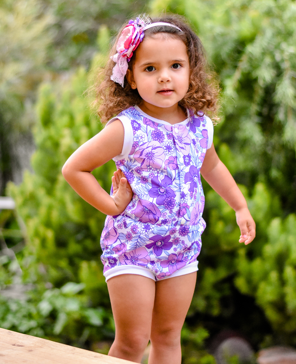 Retro Sunsuit - Irene floral