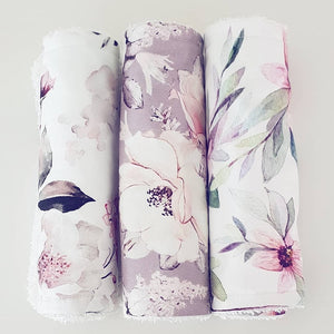 Floral Burp Cloth Set 1