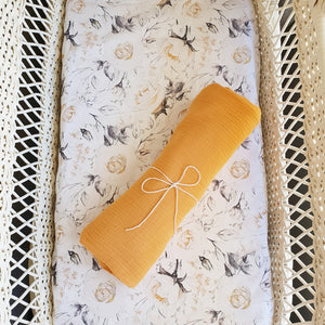 Double gauze swaddle - Mustard