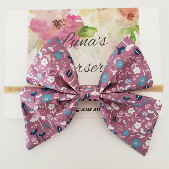 Large Fabric bow - Verbena