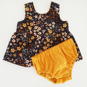 Peplum and Bloomer set- Mustard Haze