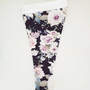 Leggings - Deep Plum Poppy