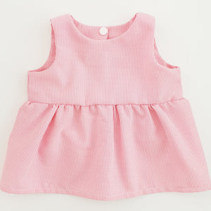 Peplum top - Candy stripe