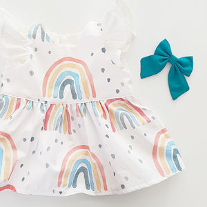 Rainbow peplum top