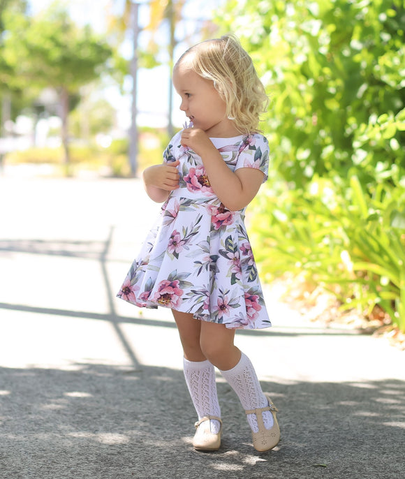 Wattle dress - Peyton floral