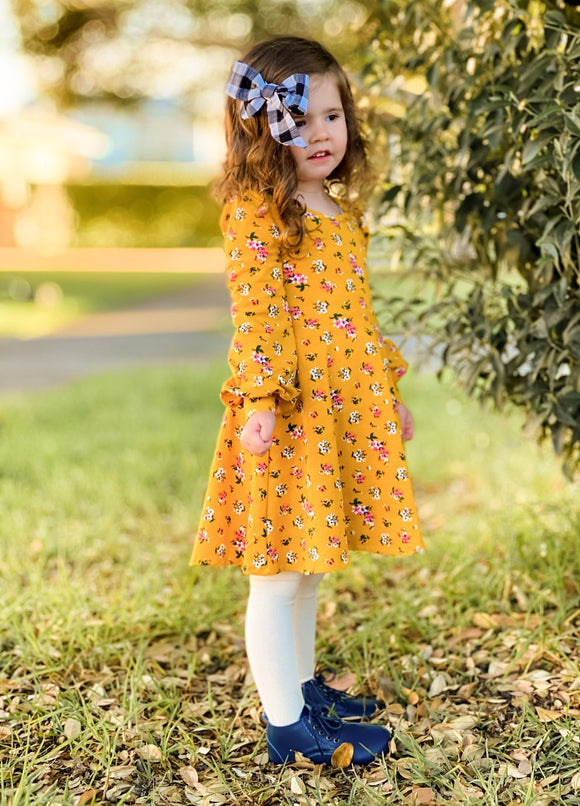 Long sleeve Dress - Autumn floral