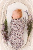 Pink native floral swaddle