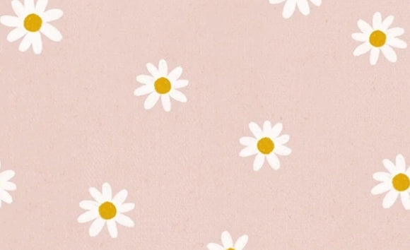 Wattle dress - Pink daisy