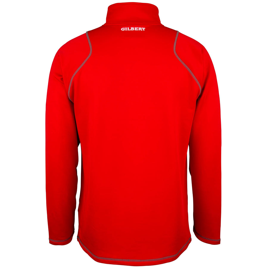 2600 RCGG18 81513605 Top Quest 2 Quarter Zip Fleece Red, Back