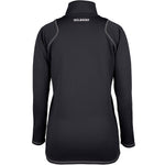 2600 RCGH18 81513805 Top Quest 2 Quarter Zip Fleece Ladies Black, Back