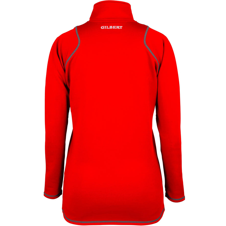 2600 RCGH18 81514005 Top Quest 2 Quarter Zip Fleece Ladies Red, Back