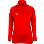 2600 RCGH18 81514005 Top Quest 2 Quarter Zip Fleece Ladies Red Front