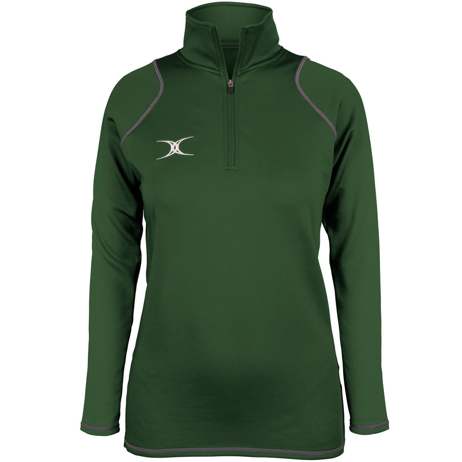 2600 RCGH18 81514105 Top Quest 2 Quarter Zip Fleece Ladies Green Front