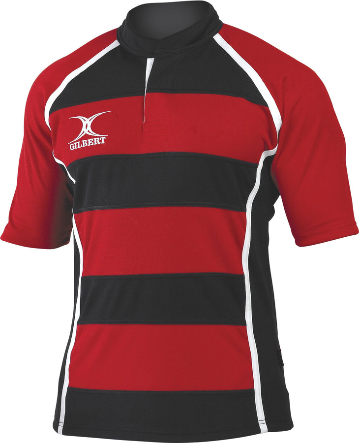 RCAB14MatchShirt Xact Shirt Hoops Red Black