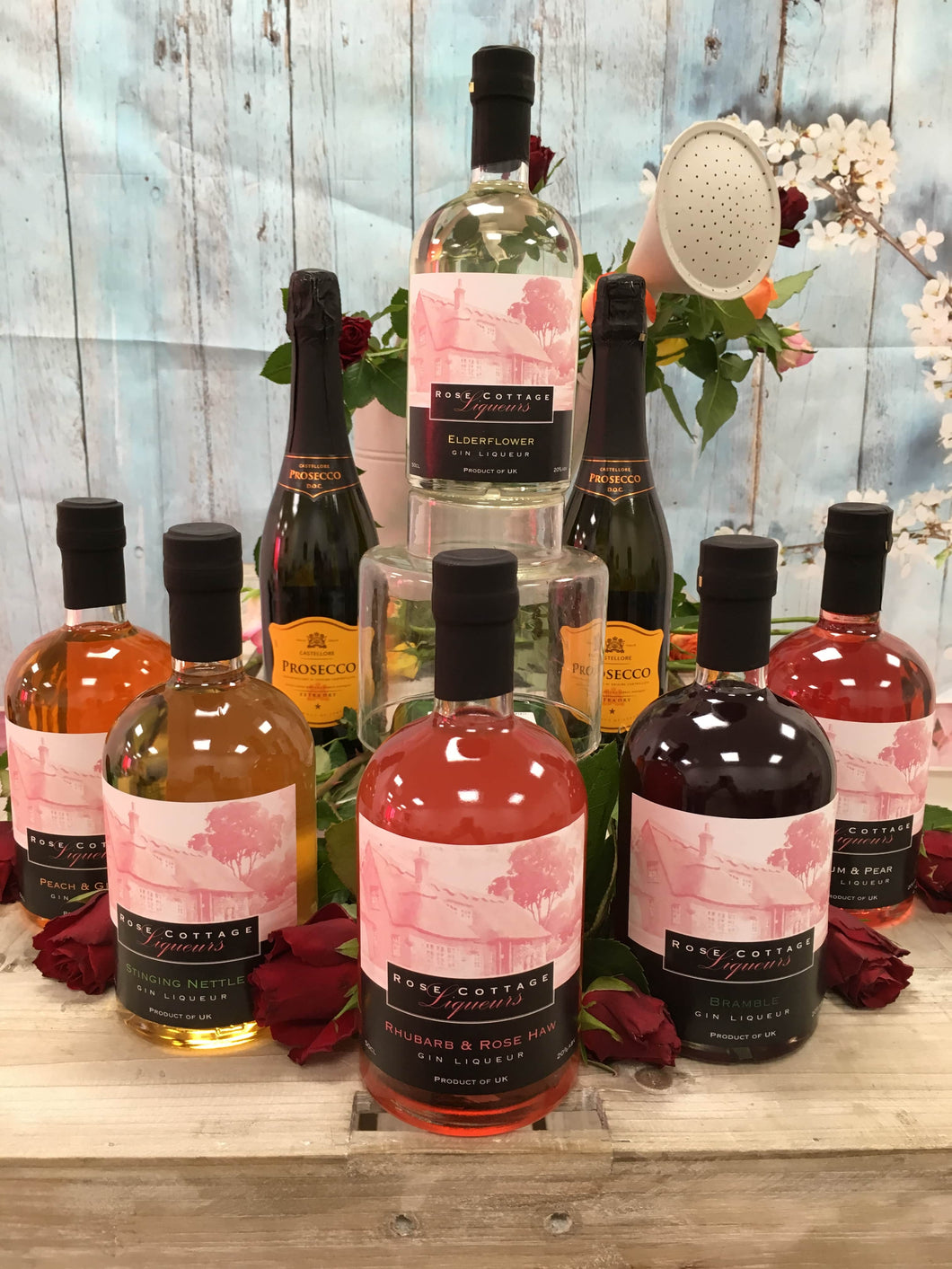 6 Large Bottles of Flavoured Gin Liqueur Saving £20 !