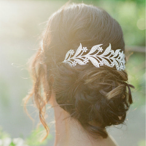 Winter Leaf Branch Hair Piece