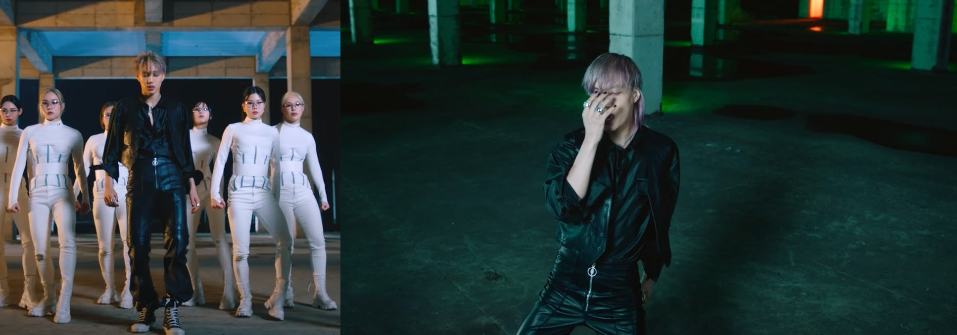 """ic: KAI in Rick Owens high-top sneakers. Featured in KAI's music video """"Mmmh""""."""