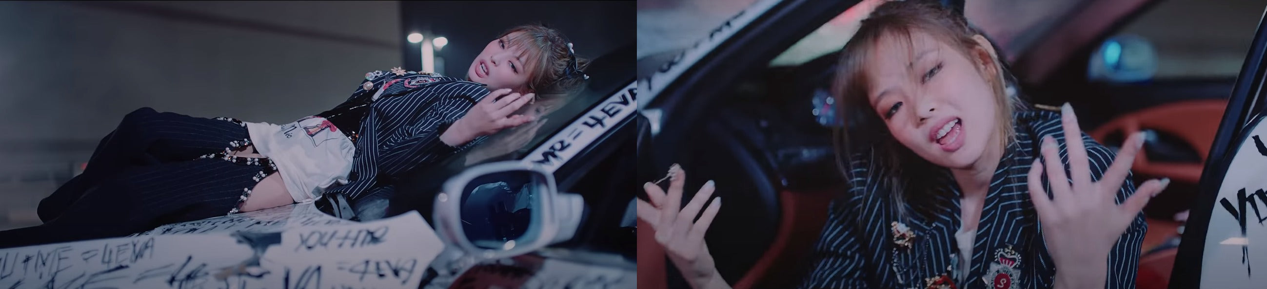 """ic: Jennie in a R13 T-shirt. Featured in Blackpink's """"Lovesick Girls"""" Music Video."""