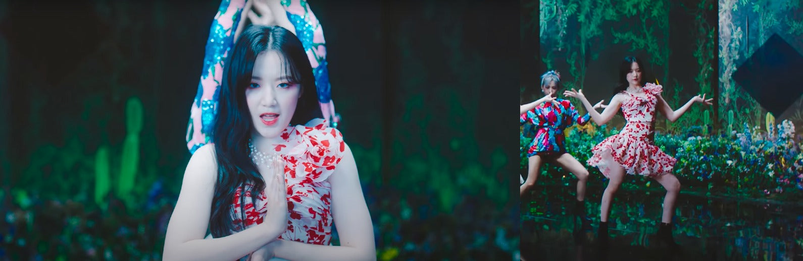 """ic: Shuhua in a two-piece set from Bambah. Featured in (G)I-DLE's music video, """"HWAA."""""""