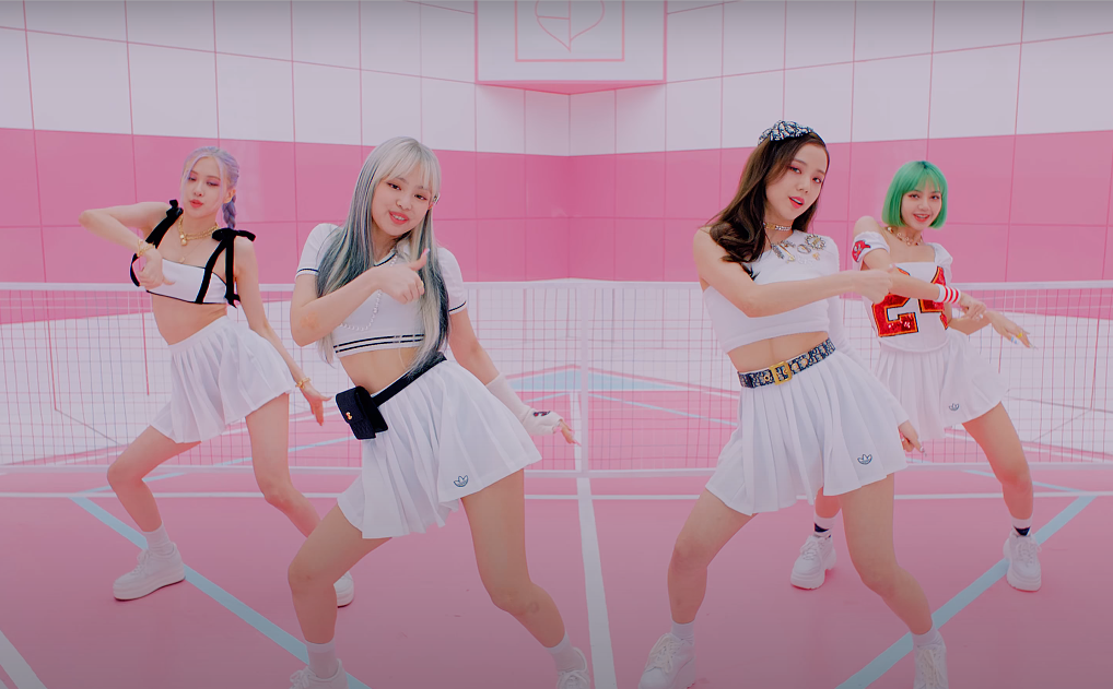 ic: Blackpink in all-white tennis outfits. Source: YouTube