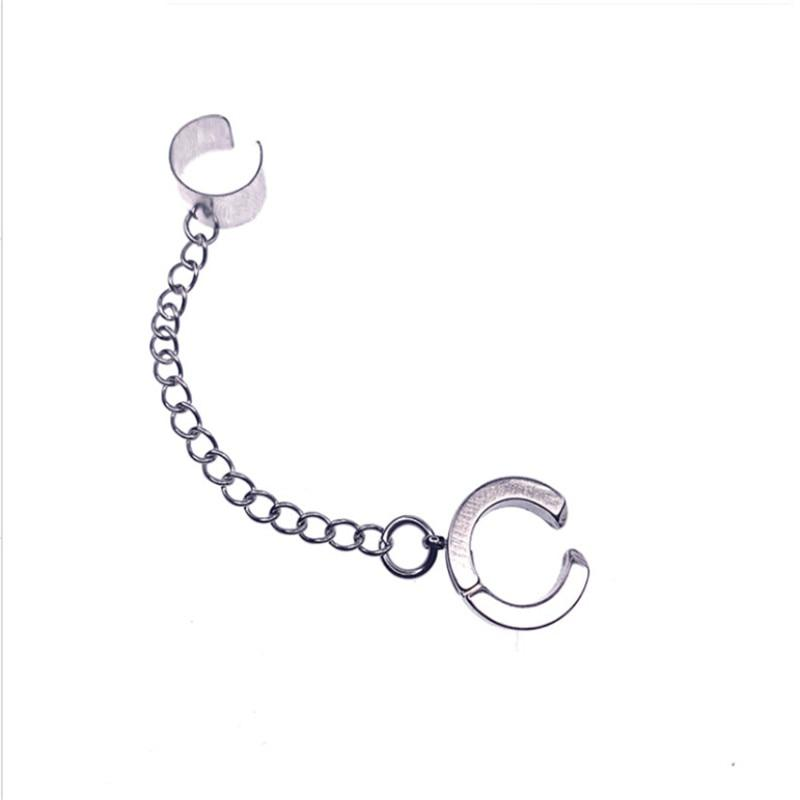 Chain Loop Earring with Chunky Clip-On - nightcity clothing