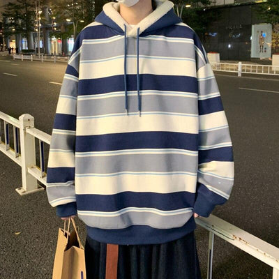 Color Striped Lightweight Hoodie