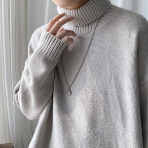 Drop Shoulder Turtleneck Sweater II - nightcity clothing