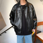 Faux Leather Lightweight Jacket - nightcity clothing
