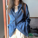 Loose Denim Shirt - nightcity clothing