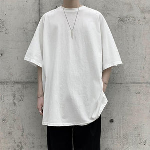 Loose Tee with Split Hem - nightcity clothing