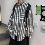 Oversized Classic Plaid Shirt - nightcity clothing
