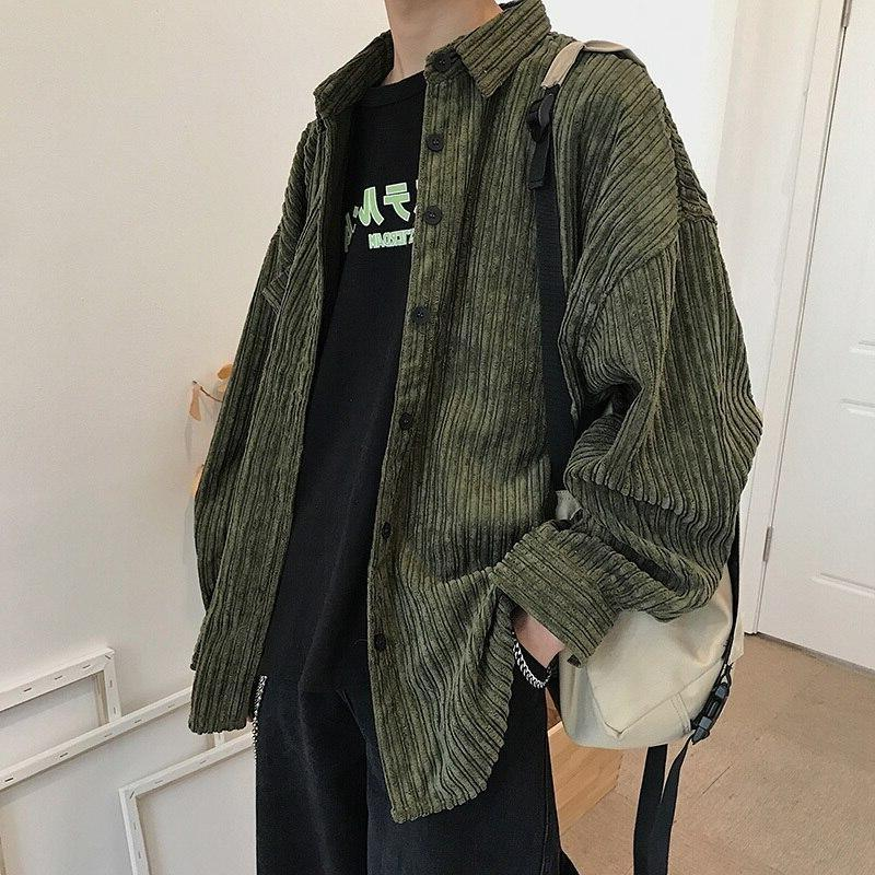 Oversized Corduroy Shirt - nightcity clothing