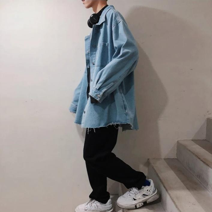 Oversized Denim Shirt - nightcity clothing