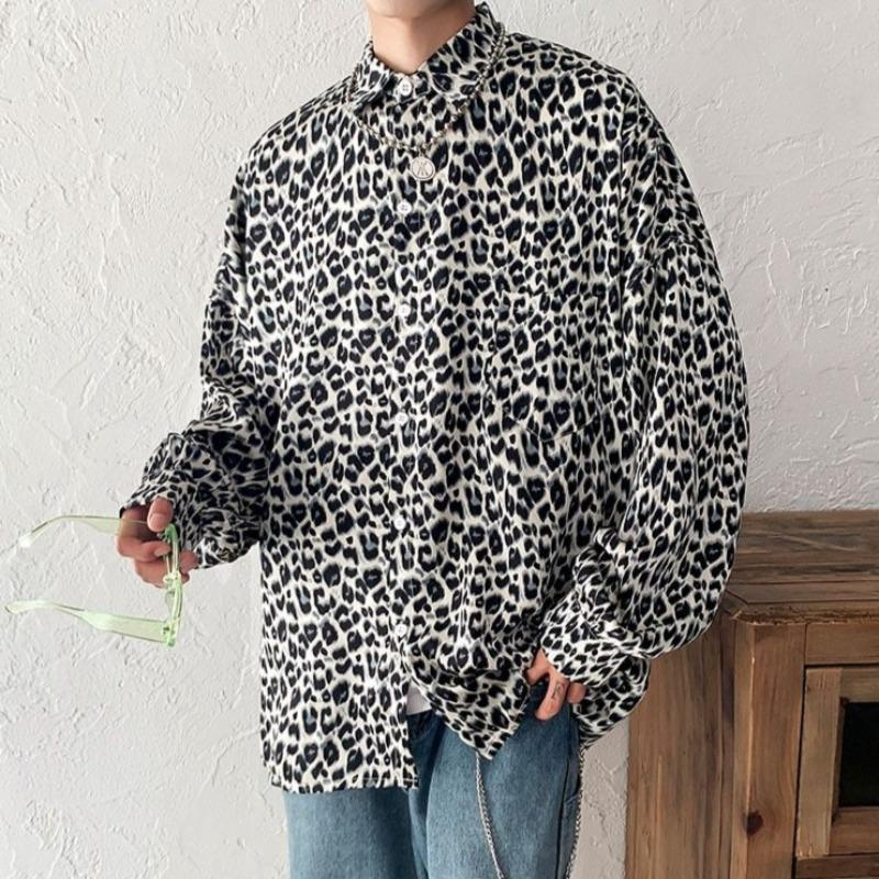 Oversized Leopard Print Shirt - nightcity clothing