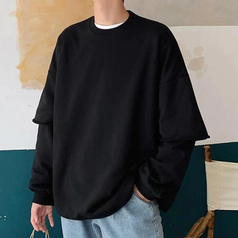 Oversized Mock Two Piece Sweatshirt - nightcity clothing