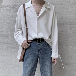 Oversized Shirt with French Cuff - nightcity clothing
