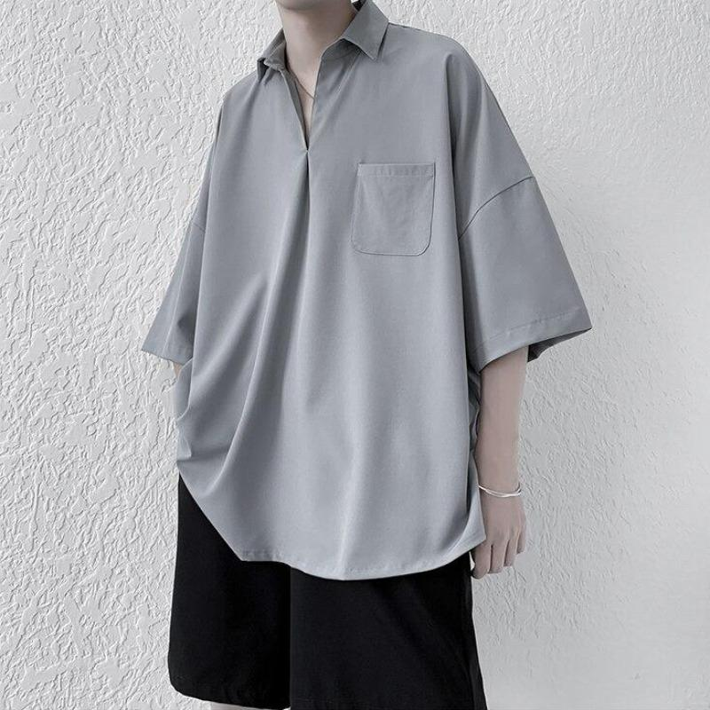 Oversized Short Sleeve Pullover Shirt - nightcity clothing