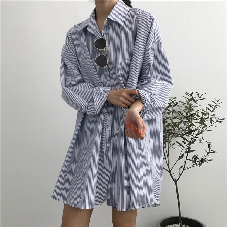 Oversized Striped Shirt - nightcity clothing