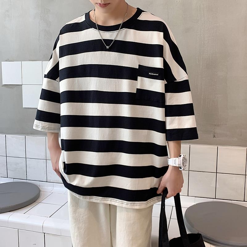 Oversized Striped Tee - nightcity clothing