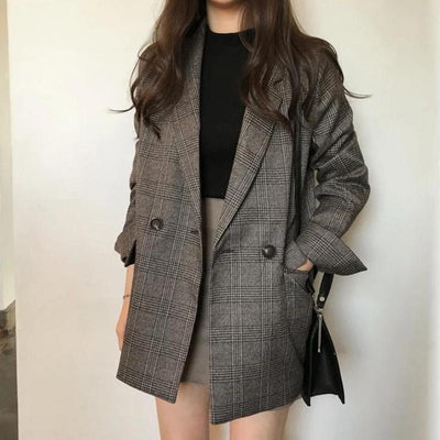 Plaid Jacket Blazer