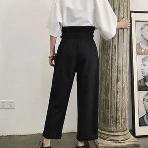 Pleated High Waist Suit Trousers - nightcity clothing