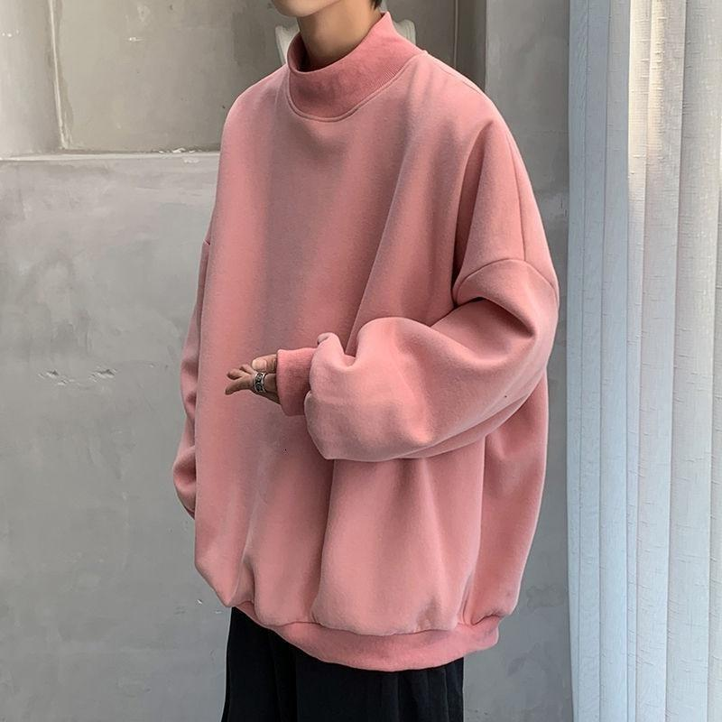 Semi-Turtleneck Oversized Sweatshirt - nightcity clothing