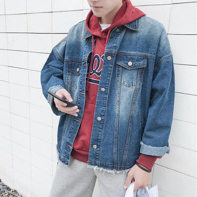 Slim Denim Jacket with Bell Sleeve