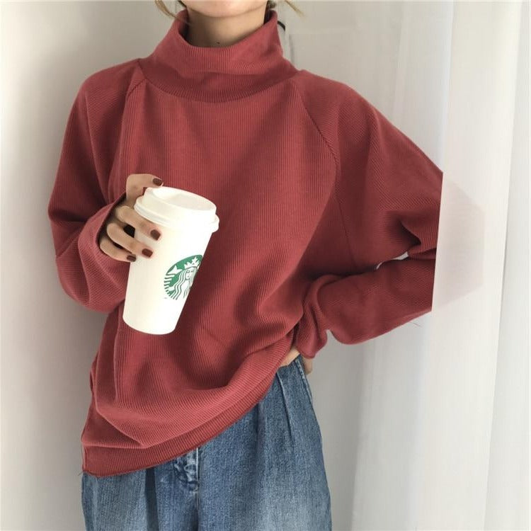 Slim Turtleneck Sweater - nightcity clothing