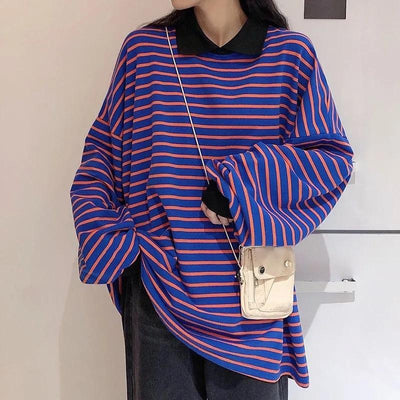 Striped Polo Long Sleeve Shirt II